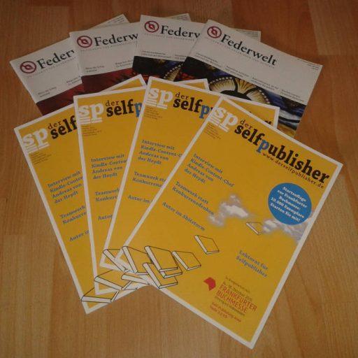 """Fachzeitschriften """"Federwelt"""" und """"Der Selfpublisher"""""""